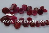 CTD2551 Top drilled 18*25mm - 30*40mm freeform agate gemstone beads