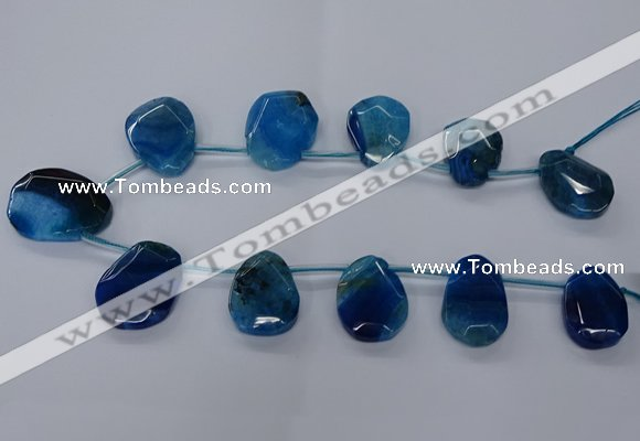CTD2568 15.5 inches 18*25mm - 30*40mm freeform agate beads