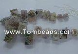 CTD2575 Top drilled 15*22mm - 25*45mm freeform druzy amethyst beads