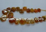 CTD2585 Top drilled 20*25mm - 30*40mm faceted freeform agate beads