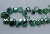 CTD2589 Top drilled 20*25mm - 30*40mm faceted freeform agate beads