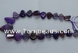 CTD2595 Top drilled 15*20mm - 25*35mm faceted freeform agate beads