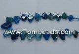 CTD2597 Top drilled 15*20mm - 25*35mm faceted freeform agate beads