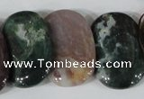 CTD26 Top drilled 20*30mm oval Indian agate beads wholesale