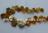 CTD2601 Top drilled 13*18mm - 23*33mm freeform agate beads