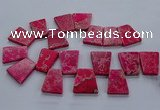 CTD2653 Top drilled 25*35mm - 30*40mm trapezoid sea sediment jasper beads