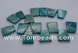 CTD2654 Top drilled 25*35mm - 30*40mm trapezoid sea sediment jasper beads