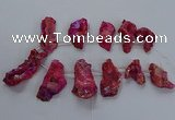 CTD2672 Top drilled 25*30mm - 35*60mm freeform plated druzy agate beads