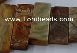 CTD2689 Top drilled 16*22mm - 16*55mm rectangle agate beads