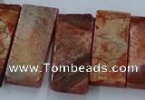 CTD2691 Top drilled 16*22mm - 16*55mm rectangle agate beads