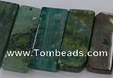 CTD2695 Top drilled 16*22mm - 16*55mm rectangle agate beads