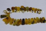 CTD2740 Top drilled 15*35mm - 18*40mm freeform agate beads