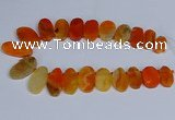 CTD2744 Top drilled 18*25mm - 22*40mm freeform agate beads