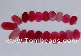CTD2746 Top drilled 18*25mm - 22*40mm freeform agate beads