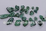 CTD2750 Top drilled 18*25mm - 25*50mm freeform druzy agate beads