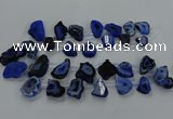 CTD2751 Top drilled 18*25mm - 25*45mm freeform druzy agate beads