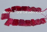 CTD2757 Top drilled 25*30mm - 35*45mm freeform agate beads