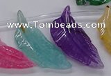 CTD2778 Top drilled 20*45mm - 25*55mm carved leaf agate beads