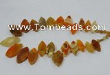 CTD2789 Top drilled 15*30mm - 25*45mm marquise agate gemstone beads