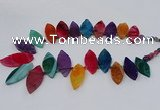 CTD2794 Top drilled 15*30mm - 25*45mm marquise agate gemstone beads
