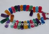 CTD2801 Top drilled 15*35mm - 20*40mm freeform agate gemstone beads