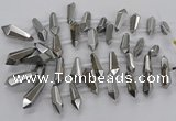 CTD2873 Top drilled 10*20mm - 15*50mm sticks plated quartz beads