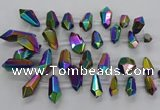 CTD2882 Top drilled 15*20mm - 22*50mm sticks plated quartz beads