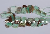 CTD2885 Top drilled 15*20mm - 25*45mm freeform australia chrysoprase beads