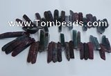 CTD2911 Top drilled 8*35mm - 10*65mm sticks agate beads
