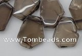 CTD301 Top drilled 15*20mm - 20*25mm freeform smoky quartz beads