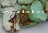 CTD335 Top drilled 15*20mm - 25*30mm freeform Australia chrysoprase beads