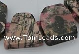 CTD3508 Top drilled 15*20mm - 25*30mm freeform rhodonite beads