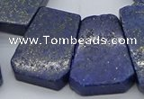 CTD3510 Top drilled 15*25mm - 25*35mm freeform lapis lazuli beads
