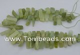 CTD3519 Top drilled 10*20mm - 12*40mm sticks New jade beads