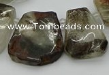 CTD3535 Top drilled 15*20mm - 25*30mm freeform green phantom quartz beads