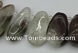 CTD3541 Top drilled 10*22mm - 15*45mm freeform green phantom quartz beads