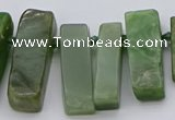 CTD3546 Top drilled 10*20mm - 12*35mm sticks Canadian jade beads
