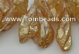 CTD3557 Top drilled 10*20mm - 12*30mm sticks plated quartz beads