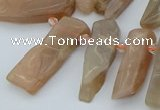 CTD3570 Top drilled 10*20mm - 12*40mm sticks moonstone beads