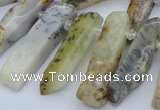 CTD3589 Top drilled 10*20mm - 12*40mm sticks white opal beads