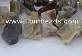 CTD3591 Top drilled 8*10mm - 15*25mm freeform druzy agate beads