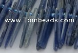 CTD3595 Top drilled 2*15mm - 5*40mm sticks blue kyanite beads