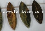 CTD36 Top drilled 10*24mm � 15*50mm marquise brecciated jasper beads