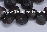 CTD3605 Top drilled 10*14mm - 13*18mm nuggets garnet beads