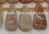 CTD3649 Top drilled 10*20mm - 15*45mm freeform moonstone beads
