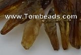 CTD3668 Top drilled 6*11mm - 11*35mm sticks quartz beads