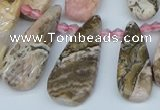 CTD3715 Top drilled 10*20mm - 15*45mm freeform rhodochrosite beads