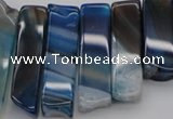 CTD373 Top drilled 10*20mm - 12*55mm wand purple agate beads