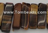 CTD384 Top drilled 10*20mm - 12*50mm wand yellow tiger eye beads