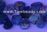 CTD3876 Top drilled 8*10mm - 12*14mm freeform chrysocolla beads